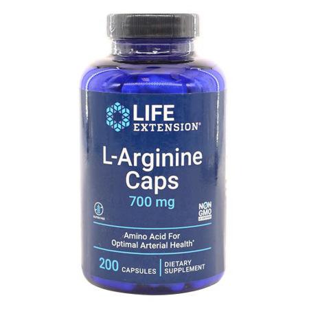 Imagen de L-Arginina 700mg Life Extension 200 Cápsulas.