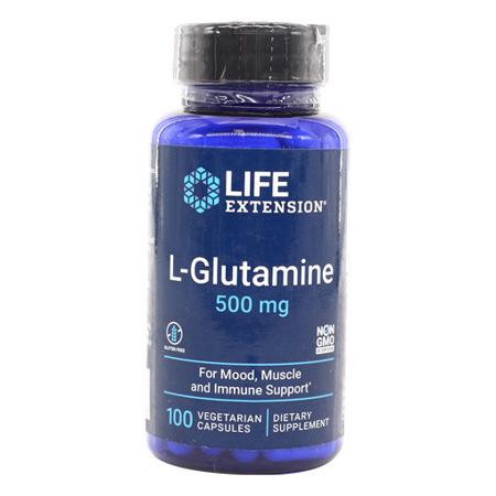 Imagen de L-Glutamina 500mg Life Extension 60 Cápsulas Vegetarianas.