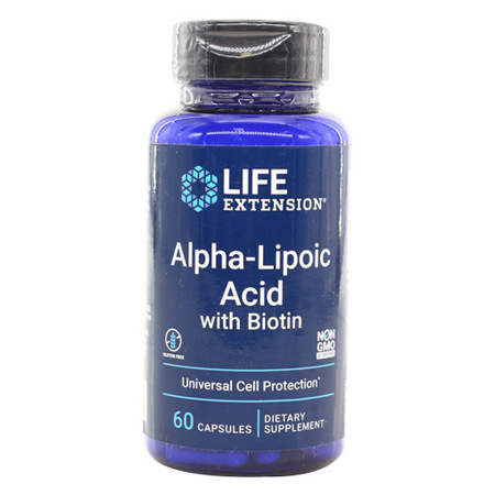 Imagen de Ácido Alfa-Lipoico Con Biotina Life Extension 60 Cápsulas.